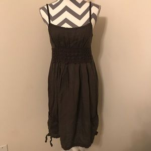 Dresses & Skirts - Women's Brown Linen Sack Dress Made in Italy Sz M
